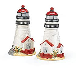 Lighthouse Salt and Pepper Set --Coastal Light