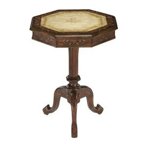 Image of Bailey Street MAT019 Kosmeja End Table, Antique Red And Ivory (B000R9JL8G)