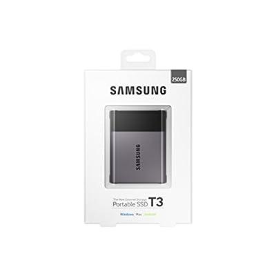 Samsung T3 Portable 250GB USB 3.0 External SSD (MU-PT250B/AM)