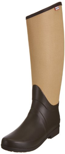 Hunter Unisex-Adult Regent St James Canvas Beige Wellington Boot W24294 6 UK