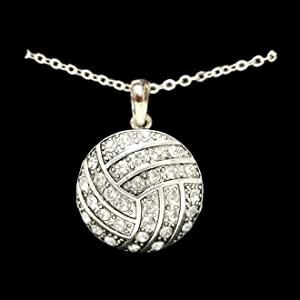 Buy Volleyball - Crystal Necklace by MadSportsStuff