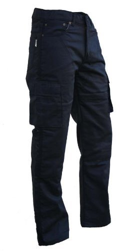 Australian Bikers Gear Black Motorcycle Kevlar CE Armoured Cargo Jeans Trousers (36 REGULAR) - 36 REGULAR