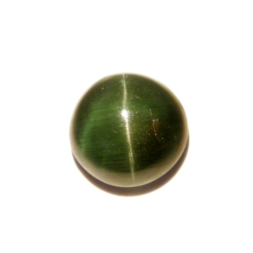 2.05 Ct. RARE!! Natural Round Cabochon Green Cat's Eye Apatite Loose Gemstone