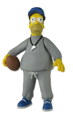 NECA The Simpsons 25th Anniversary - Series 1 - Homer (Coach) Action Figure, 5""