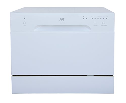 Countertop Dishwasher With Heated Dry : ... Countertop Dishwasher With Delay Start & Led, White [Major Appliances