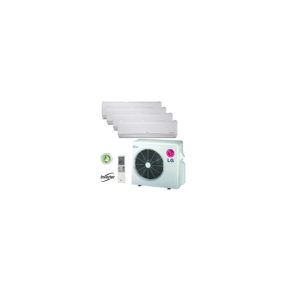 LG 36,000 BTU Quad Zone Mini Split Heat Pump and Air Conditioner LMU369HV