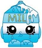 2014 SHOPKINS FIGURES - SPILT MILK #067 SEASON 1 - RARE - 1