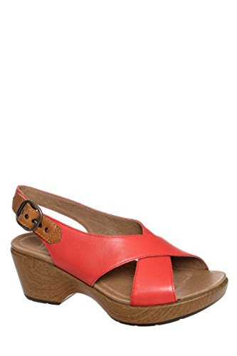 Jacinda Full Grain Mid Heel Sandal