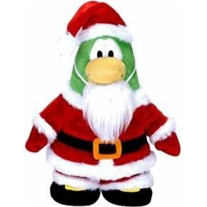"SAVE $7.00 - VALUE DEAL on RARE Club Penguin SANTA 6.5"" Plush - VALUE DEAL = Just the Rare Plush without Coin or Code - 1"