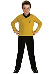 Star Trek Classic Gold Child Costume (As Shown;Large)