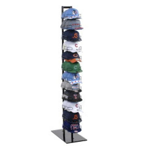 New 12 Tier Baseball Hat Rack Display Tower Black 73