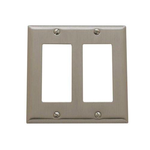 Yow- Baldwin Beveled Edge 2 Gfci Wall Plate - Satin Nickel Model# 4741.150.Cd