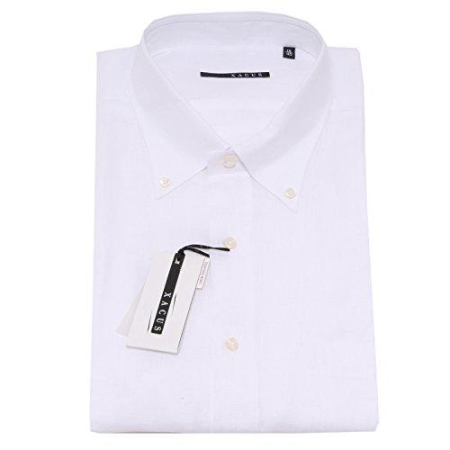 0726P camicia manica corta short sleeve XACUS bianco camicia uomo shirt men [44]
