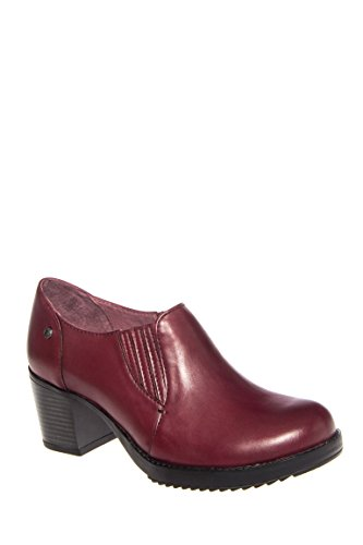 Adrienne Antiqued Mid Heel Low Rise Bootie