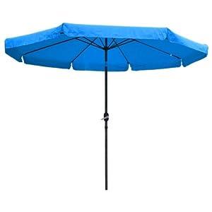 10 Ft Outdoor Furniture Patio Table Umbrella Blue Patio Lawn Garden