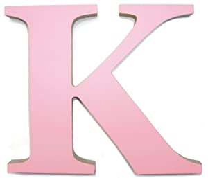 Large pink wooden letter k amazoncouk kitchen home for Large wooden letters amazon
