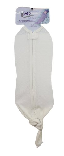 Mod Swad Tru Air Fashionable Baby Swaddle With Temperature Management (Medium 14-19 Lbs, Bisque)
