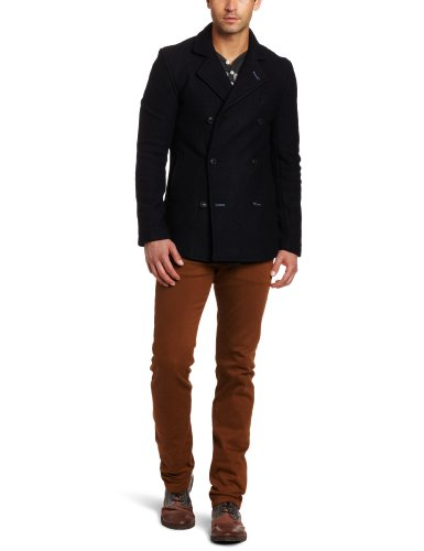 J.C. Rags Men's Cold Double Breasted Blazer, Dark Navy, XX-Large