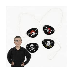 Pack Of 48 Pirate Eye Patches/Party Favors Assorted $5.49