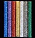 "Glitter Hot Melt Glue Sticks: Glitter Variety Sampler - 75 multi-temp sticks (5/16"" dia.) assorted glitter colors"