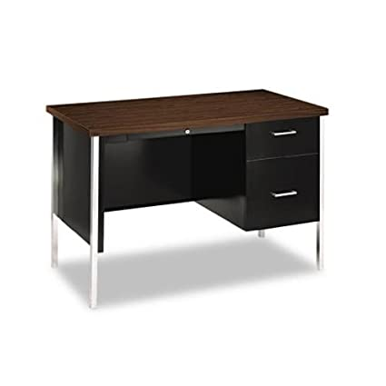 HON Industries Walnut/Black 34000 Series Right Pedestal Desk HON34002R