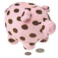 Mary Meyer Sweet Chocolate Piggy Bank, Pink