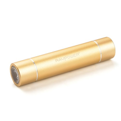 Ravpower Luster Mini 3000Mah Portable Charger Lipstick-Sized External Battery Pack Power Bank Charger (Ultra Bright Flashlight With High/Low/Strobe Modes, 5V/1A Output) For Iphone 6,6 Plus, 5S, 5C, 5, 4S, 4, Ipod(Lightning Cable Not Provided); Samsung Gal