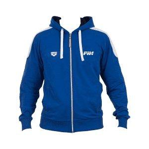 arena hooded f/z jacket fin II royal white xxs