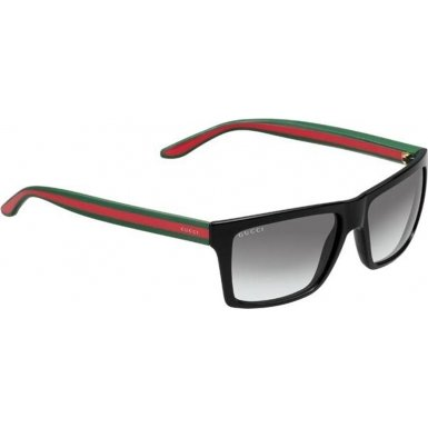 Gucci GG1013/S Sunglasses-051N Shiny Black (PT Gray Gradient Lens)-56mm