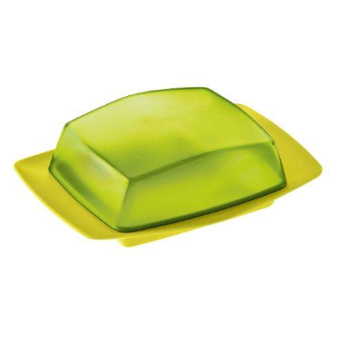 Koziol-Butterdose-Rio-transparent-olivsolid-senf