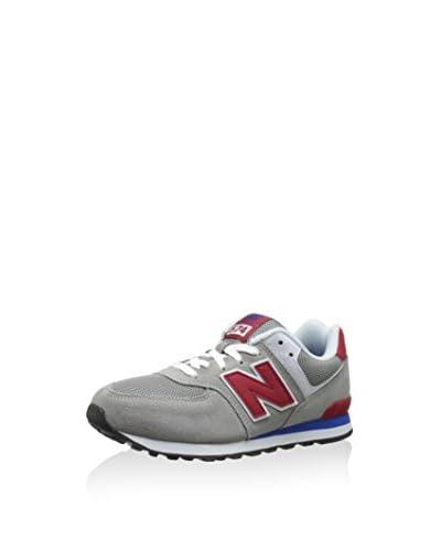 New Balance Sneaker NBKL574LTG [Grigio/Blu]