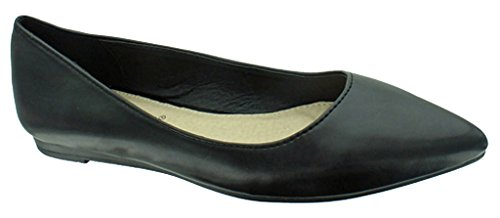 Pierre Dumas Women's Abby-10 Vegan Leather Pointed Toe Slip-On Fashion Dress Flats Shoes