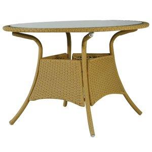 Queensgarden Valencia Alu-Geflecht Tisch Geflecht natur, 110cm rund kaufen