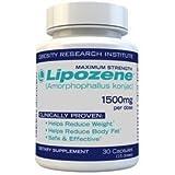 Lipozene Diet Pills - Maximum Strength Fat Loss Formula - 1500mg - 30 Capsules