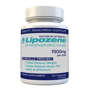 Lipozene Diet Pills - Maximum Strength Fat Loss Formula - 1500mg , 30 Capsules