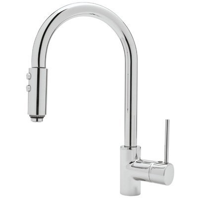 Rohl LS59L-APC-2 Architectural Single Handle Kitchen Faucet Polished Chrome Lever