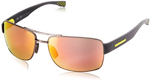 BOSS-by-Hugo-Boss-Mens-B0801s-Rectangular-Sunglasses-Matte-Dark-Ruthenium-GrayGreen-63-mm