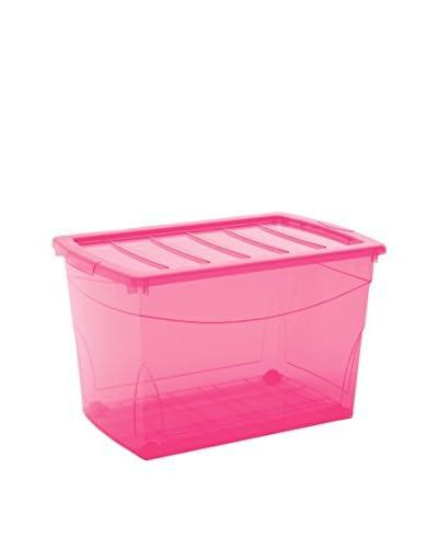 KIS Set Caja de Almacenamiento 4 Uds. Set 4 Pz. Omnibox Xl Con Ruote Fucsia
