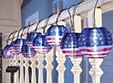 Porpora® LED Solar Chinese String Light Lantern Catalog (Porpora® 10 Pc American Flag LED Solar Chinese String Light Lanterns)