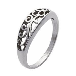 Silver shop rings games - Handmade Sterling Silver Cocktail Ring with Floral Motif