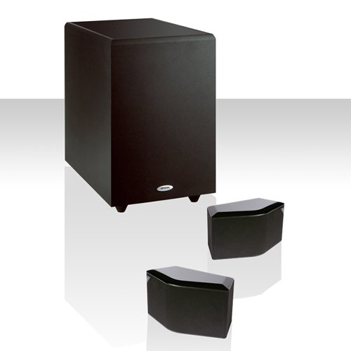 Crystal Acoustics Bps-2.1-10Bl Compact Bipolar Stereo System With Thx Select Certified Subwoofer