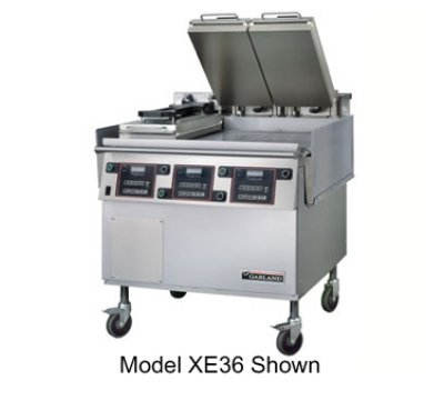 Garland Xe36 36-In Flat Griddle W/ 3-Platens & .75-In Thick Carbon Steel Plate, Each