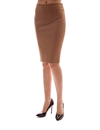 pattyboutik plain fitted office casual knee length pencil