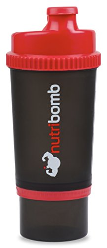 Nutribomb 3 in 1 Shaker Bottle, Supplement Shaker Cup, Pre-workout Shaker, Creatine Shaker, Protein Shaker Bottle,