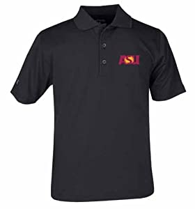 Arizona State YOUTH Unisex Pique Polo Shirt (Team Color) by Antigua
