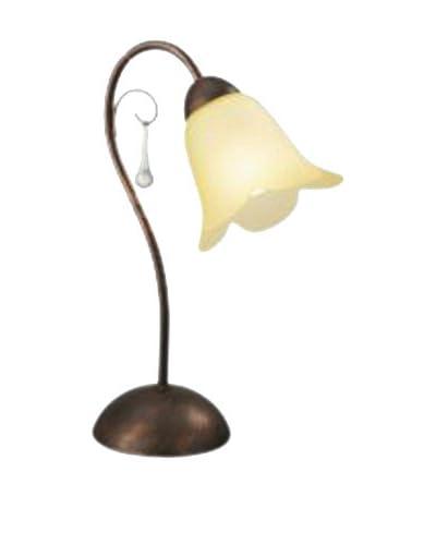 Massive tafellamp Kanto Brown Brush 1X60W 230V