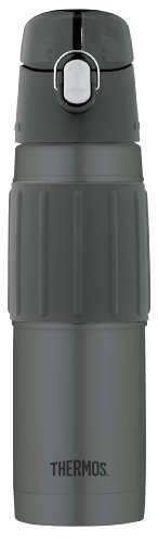 Thermos Vacuum Insulated 18 Ounce Stainless Steel Hydration Bottle, Charcoal (Thermos Insulated Stainless Steel compare prices)