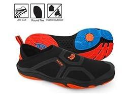 Zemgear U Cross Round Toe Slip On Shoes, Black/Black, M5w6