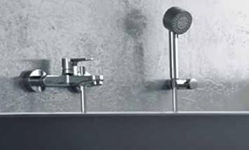 elegante badewannenarmatur einhebelmischer hochglanz verchromt komplettt mit 4 strahliger. Black Bedroom Furniture Sets. Home Design Ideas