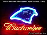 Bud NFL Panthers Carolina neon sign Beer PUB NEON LIGHT SIGN 13x8 IF057 at Amazon.com